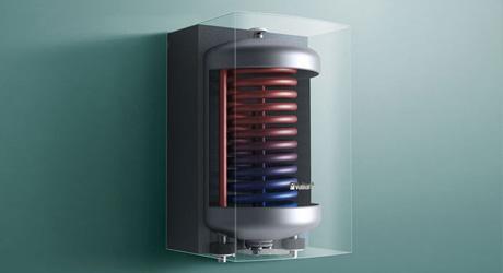 Boiler doorstromer